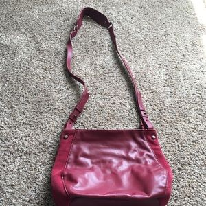 Nwot maroon leather & suede Dolce Vita Bag